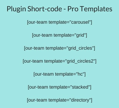 Our Team Showcase - Setting Templates With Short-code - Smartcat