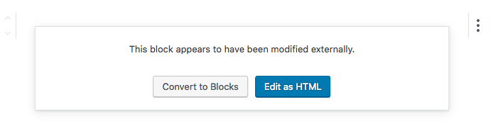 gutenberg convert to blocks