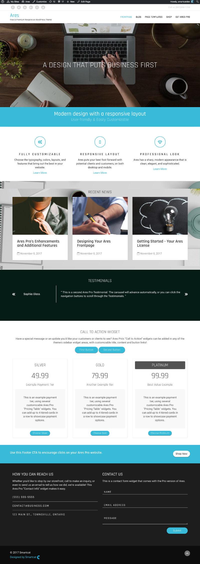 Ares Pro - V2 - Smartcat - Premium WordPress Themes & Plugins